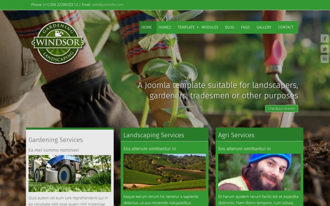 Joomla Template: Windsor Gardens