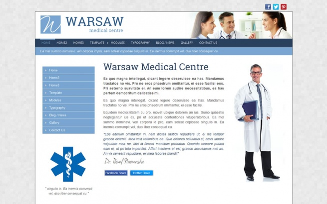 Joomla Template: Warsaw Medical