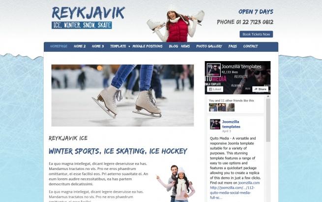 Joomla Template: Reykjavik Ice