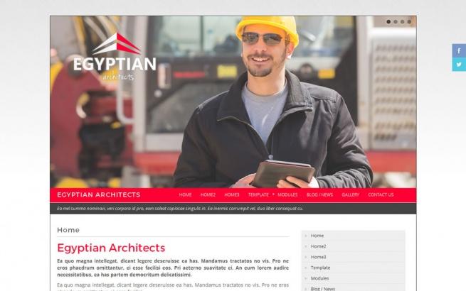 Joomla Template: Egyptian Architects