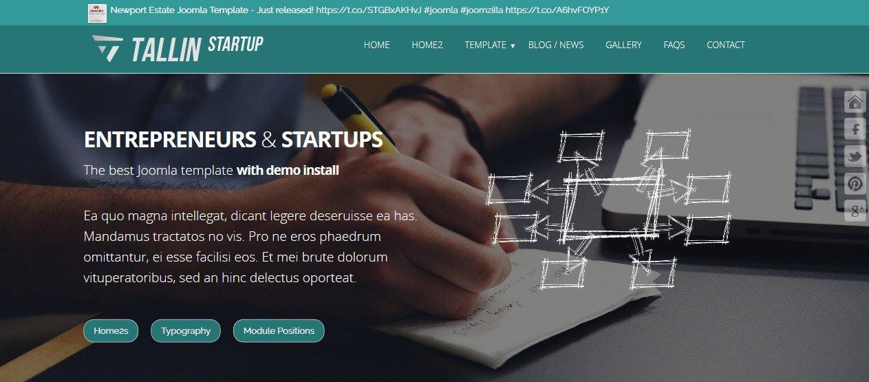 Joomla Template: Tallin Startup