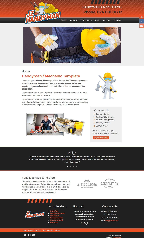 Joomla Template: JZ Handyman