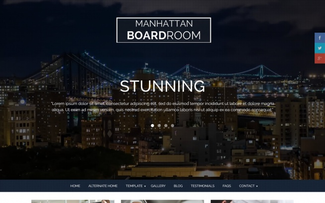 Joomla Template: Manhattan Boardroom