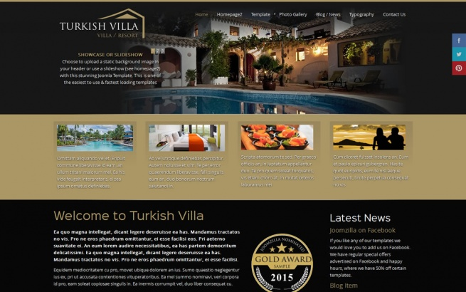 Joomla Template: Turkish Villa