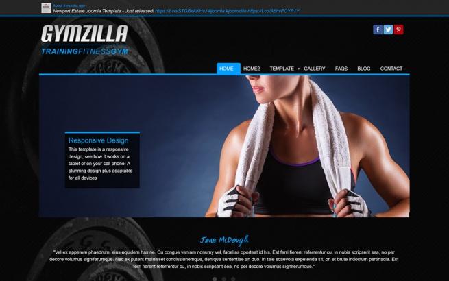 Joomla Template: Gymzilla 2