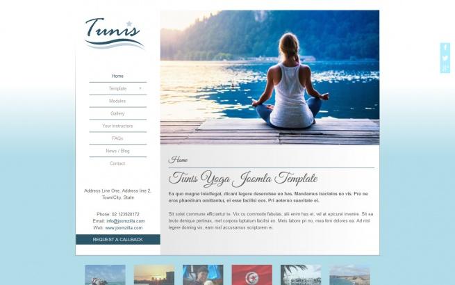 Joomla Template: Tunis Yoga