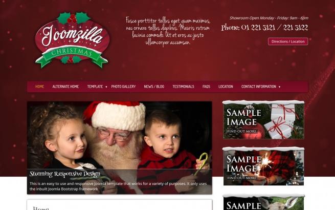 Joomla Template: JoomZilla Christmas