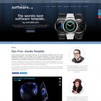 Joomzilla Joomla Template: San Fran Software