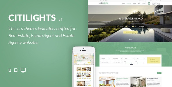 Wordpress Theme: CitiLights - Real Estate WordPress Theme
