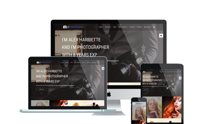 Joomla Template: LT Photography – Image Gallery / Photography Joomla template