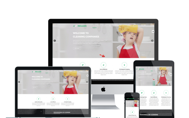 Joomla Template: LT Inclean Onepage – Single Cleaning Company / Maid Service & Laundry Onepage Joomla template