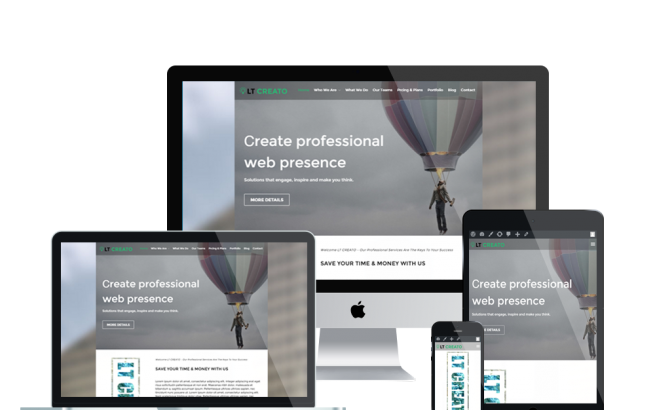 Wordpress Theme: LT Creato Onepage – Free Single Page Responsive Design / Creative WordPress theme