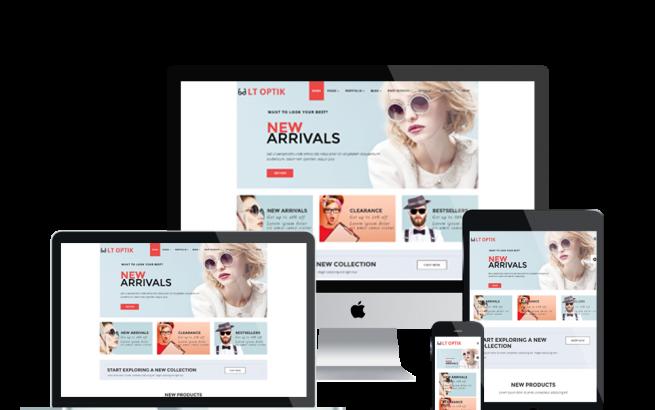 Joomla Template: LT Optik – Premium Private Eye Glasses / Eyewear VirtueMart Joomla! template