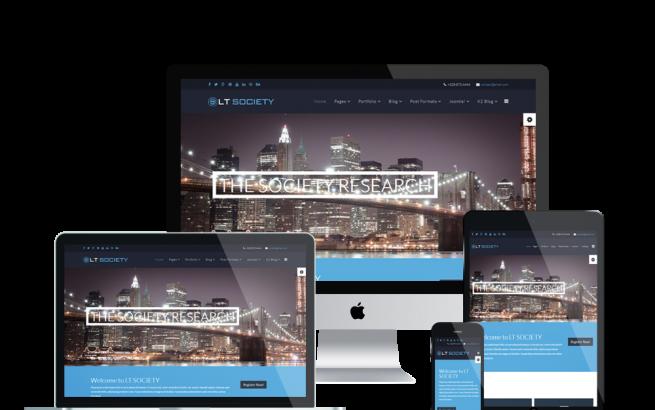 Wordpress Theme: LT Society Onepage – Free Single Page Responsive Corporation / Society WordPress theme
