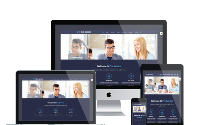 Joomla Template: LT Blue Service – Business / Service Joomla template