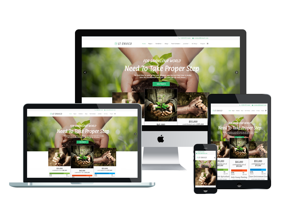 Wordpress Theme: LT Envico – Environment WordPress Theme