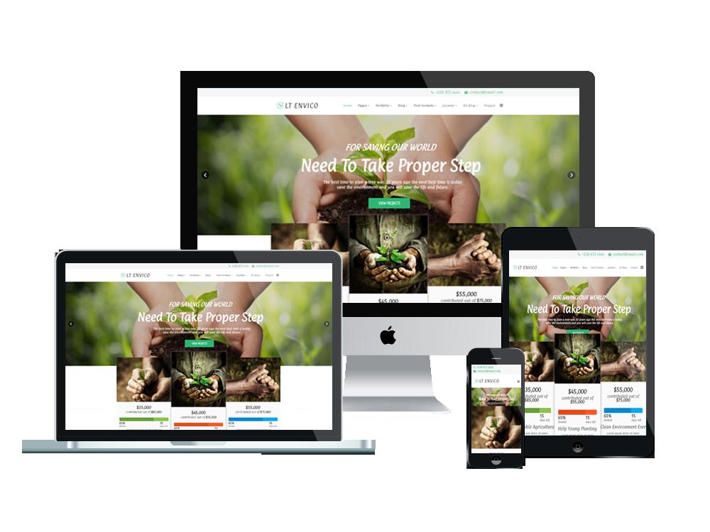 Wordpress Theme: LT Envico – Environment WordPress Theme