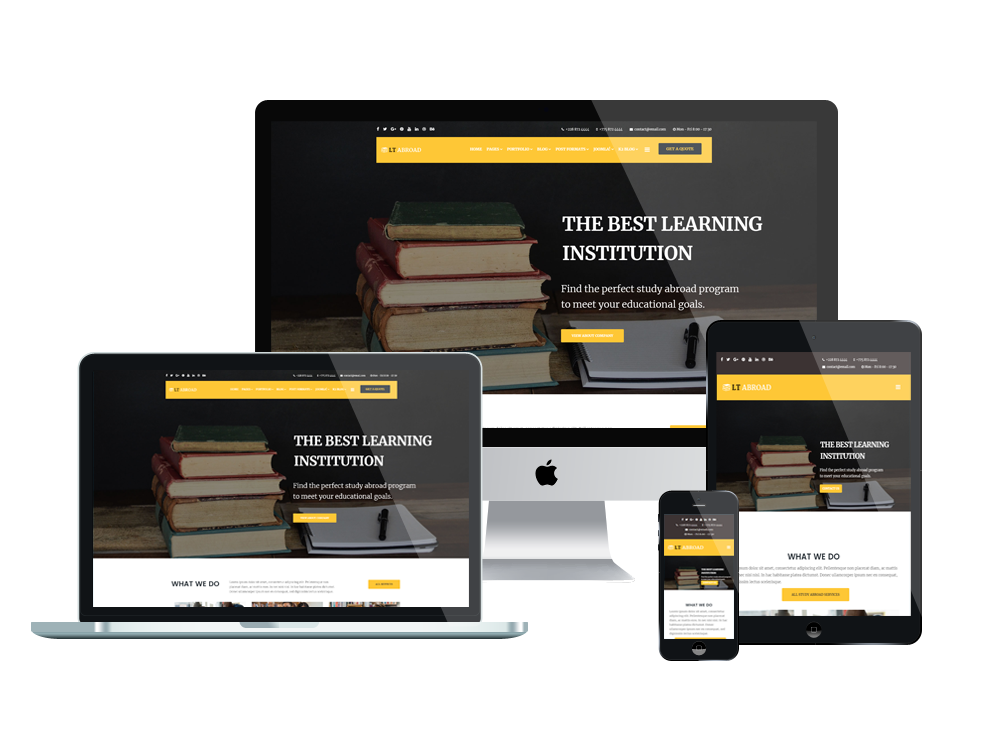 Joomla Template: LT Abroad - Premium Private Joomla Education template