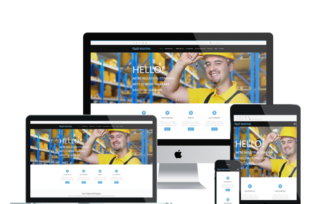 Wordpress Theme: LT Industrial Onepage – Free Single Page Responsive Engineering / Industrial WordPress theme