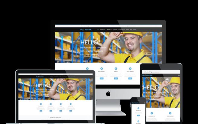 Wordpress Theme: LT Industrial Onepage – Free Single Page Responsive Engineering / Industrial WordPress theme