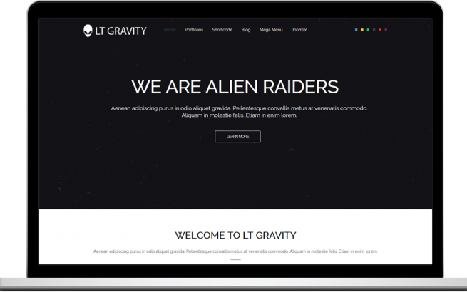 Joomla Template: LT Gravity – Free One Page Responsive Business / Corporation Joomla template