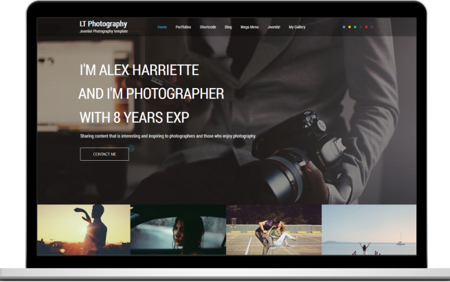 Joomla Template: LT Photography – Free One Page Responsive Photography Joomla template