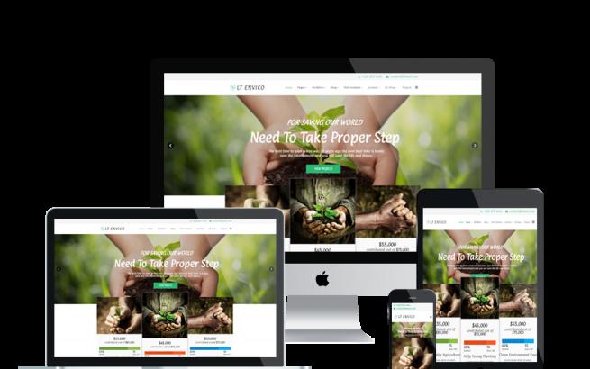 Joomla Template: LT Envico – Premium Private Environment / Nature Joomla template
