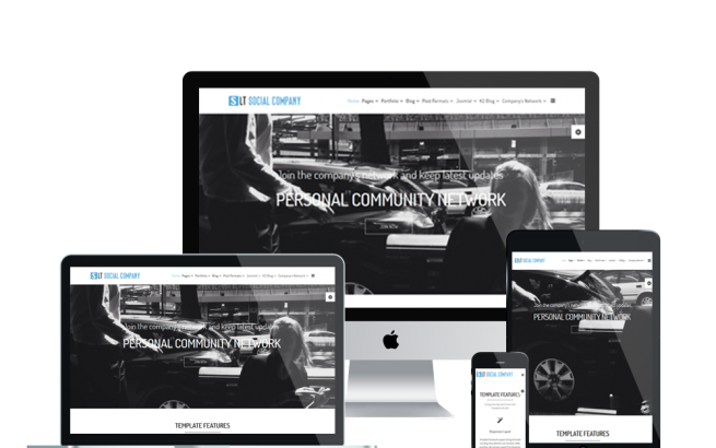 Wordpress Theme: LT Social Company Onepage – Free Single Page Responsive Personal Community for Social Company WordPress theme