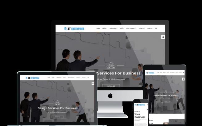 Joomla Template: LT Enterprise Onepage – Free single page Image Design / Creative Joomla template