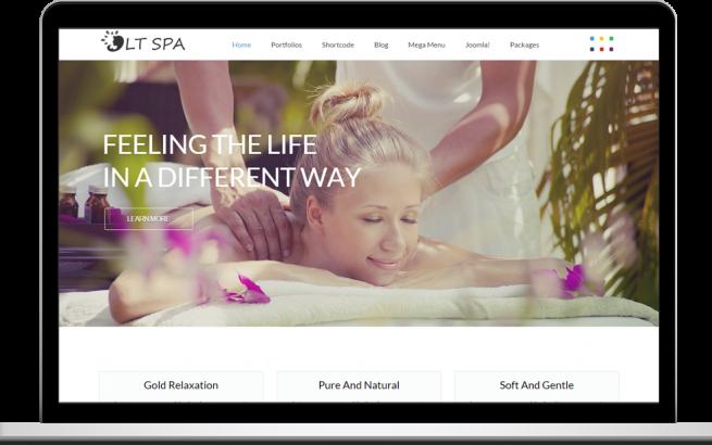 Joomla Template: LT Spa – Responsive Spa & Massage Onepage Joomla template
