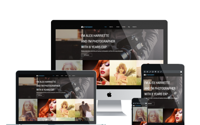 Wordpress Theme: LT Photography Onepage – Free Single Page Responsive Image Gallery / Photography WordPress theme