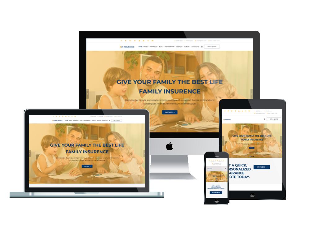 Joomla Template: LT Insurance - Premium Private Joomla insurance theme