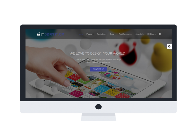 Joomla Template: LT Design Studio Onepage – Single Creative / Design Studio Onepage Joomla template
