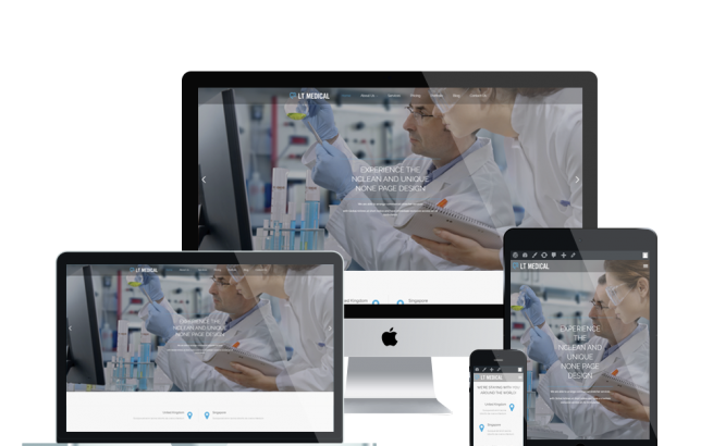 Wordpress Theme: LT Medical Onepage – Free Single Page Responsive Clinic / Hospital WordPress theme