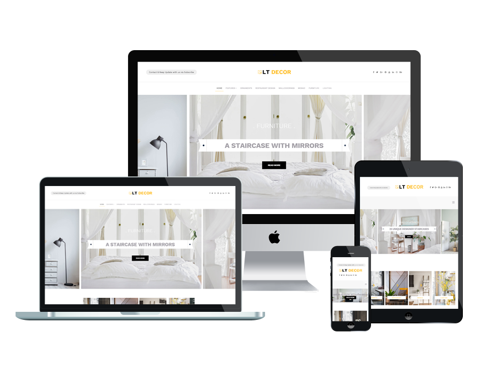 Joomla Template: LT Decor - Premium Private Interior Decorating website template