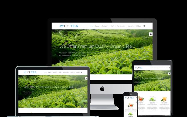 Joomla Template: LT Tea – Free Responsive Tea Store Onepage Joomla template