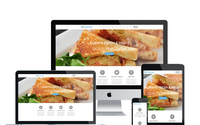 Wordpress Theme: LT Food Court – Free Responsive Food Order / Food Court WordPress Theme