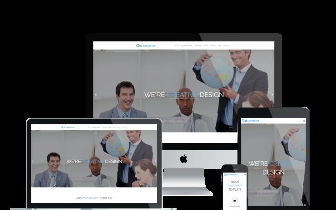 Wordpress Theme: LT Corporation – Free Responsive Company / Corporation WordPress Theme