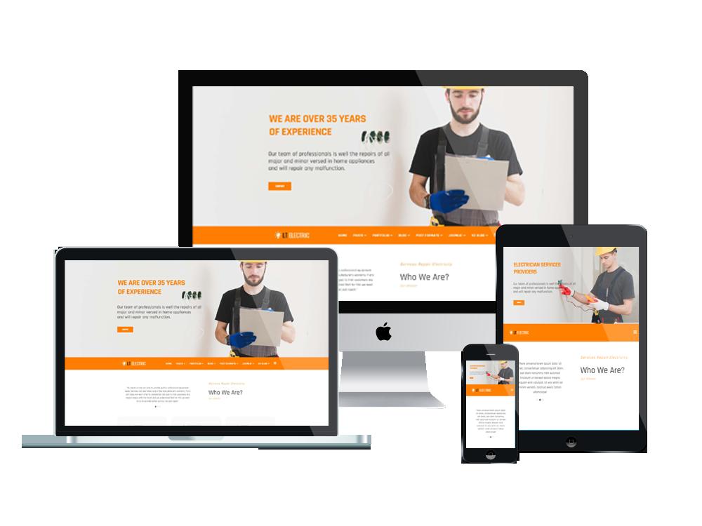 Joomla Template: LT Electric - Premium Private Electrical Website Template