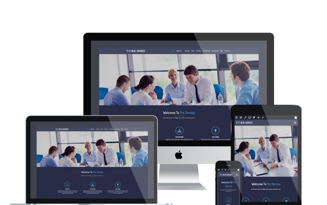 Wordpress Theme: LT Blue Services – Free Responsive Business / Service WordPress Theme