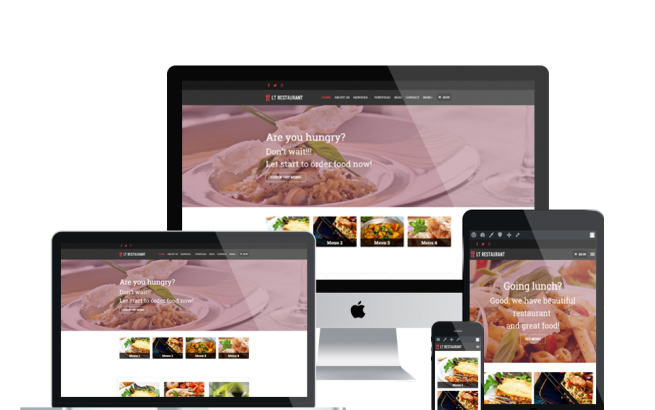 Wordpress Theme: LT Restaurant – Free Responsive Food Order / Restaurant WordPress Theme