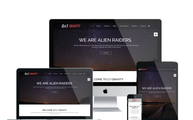 Joomla Template: LT Gravity – Business, Gravity Joomla template