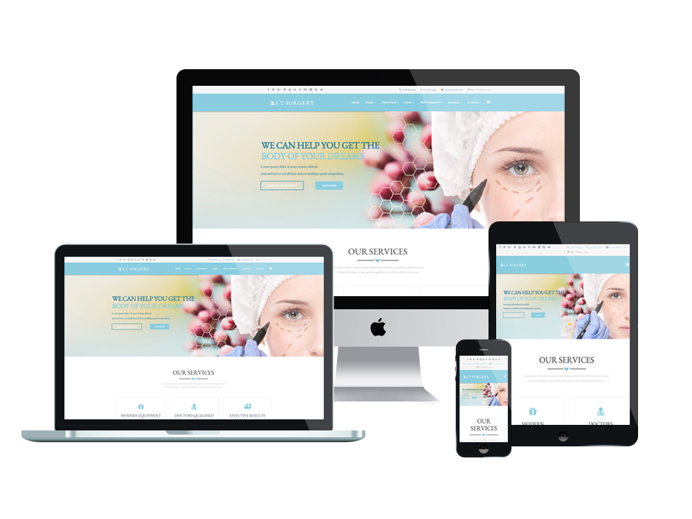 Joomla Template: LT Surgery – Free Joomla Plastic Surgery template