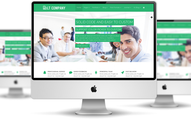 Wordpress Theme: LT Company Onepage – Free Single Page Responsive Business / Company WordPress theme