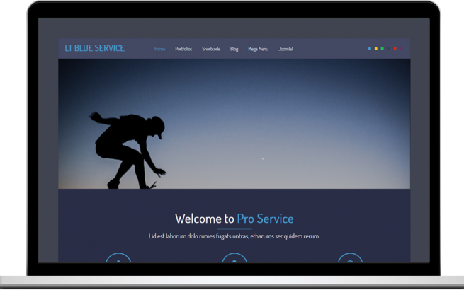 Joomla Template: LT Blue Service – Free One Page Responsive Service Joomla template