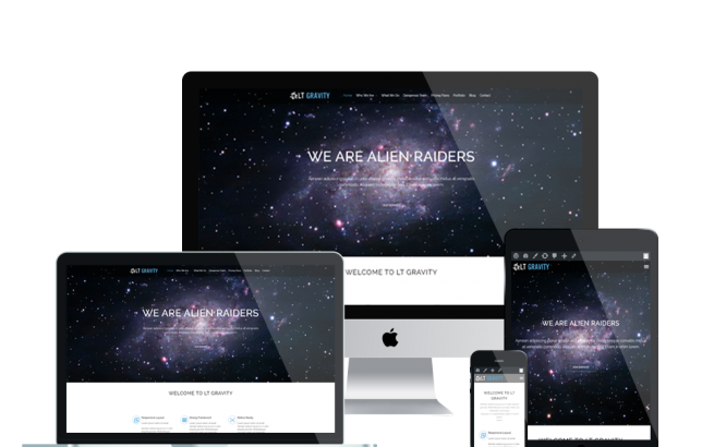 Wordpress Theme: LT Gravity Onepage – Free Single Page Responsive Universe / Planet WordPress theme