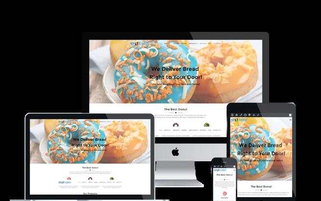 Wordpress Theme: LT Donut – Free Responsive Bread Store / Donuts WordPress Theme