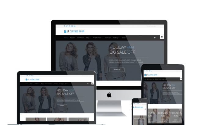 Wordpress Theme: LT Clothes Shop – Free Responsive Online Shopping Cart / Clothes Shop WordPress theme