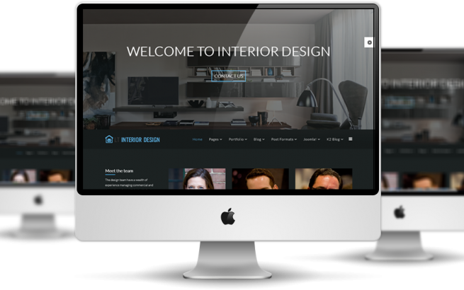 Wordpress Theme: LT Interior Design Onepage – Free Single Page Responsive Furniture / Interior WordPress theme