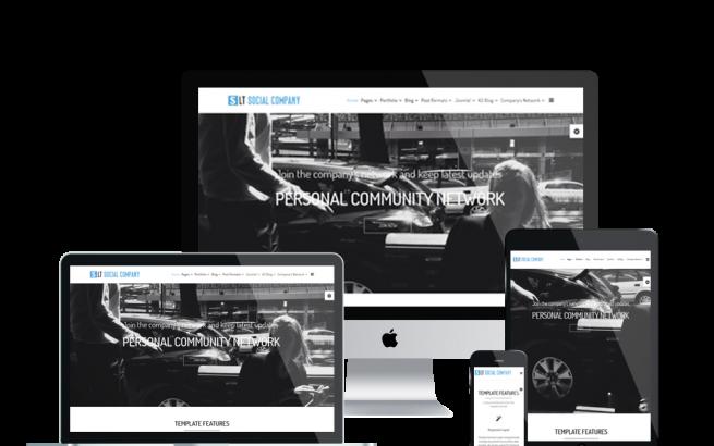 Joomla Template: LT Social Company – Personal Community for social Company Joomla template